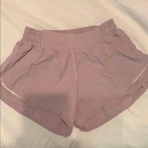 Lululemon purple athletic shorts
